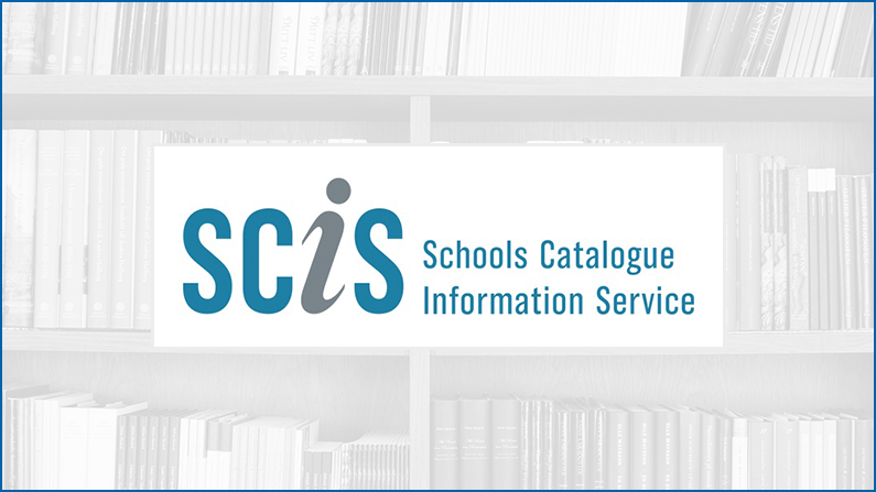 SCIS logo - Schools Catalogue Information Service offers a range of products to help manage a school library