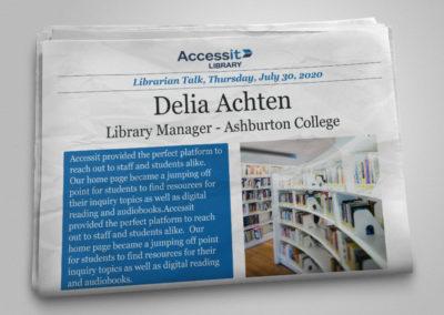 Librarian Talk – Delia Achten – Ashburton College