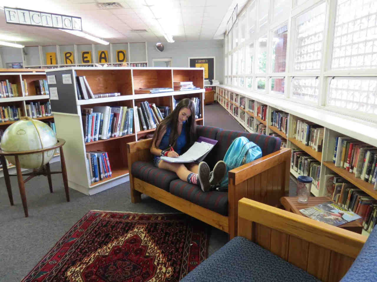 Students in Kamo Library