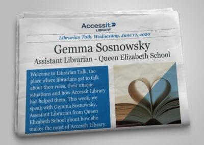 Librarian Talk – Gemma Sosnowsky – Queen Elizabeth School