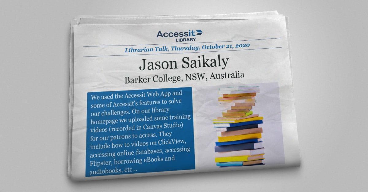 Jason Saikaly library management system user