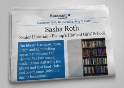 Librarian Talk – Sasha Roth – Bishop's Hatfield Girls' School