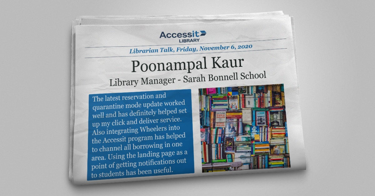 Poonampal Kaur Sarah Bonnell School library software interface