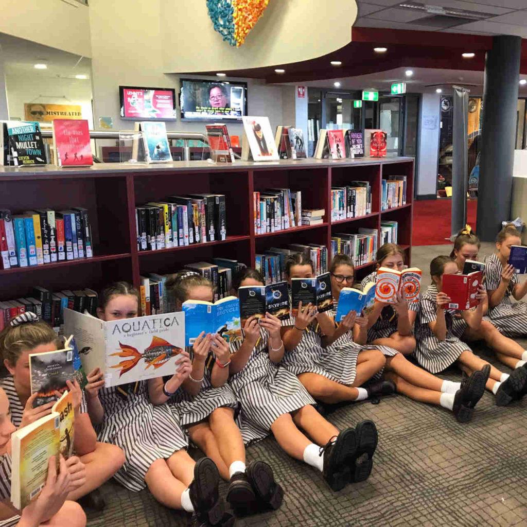 St Rita's students reading