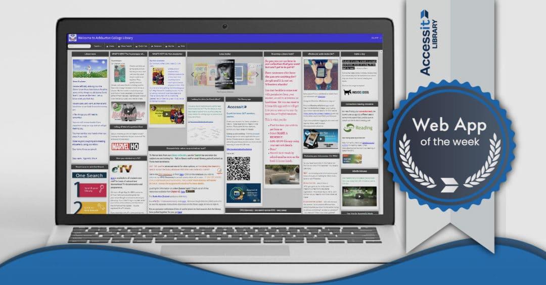 Web App of the Week – Ashburton College