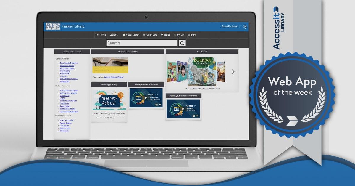 Abington Friends School library management system interface