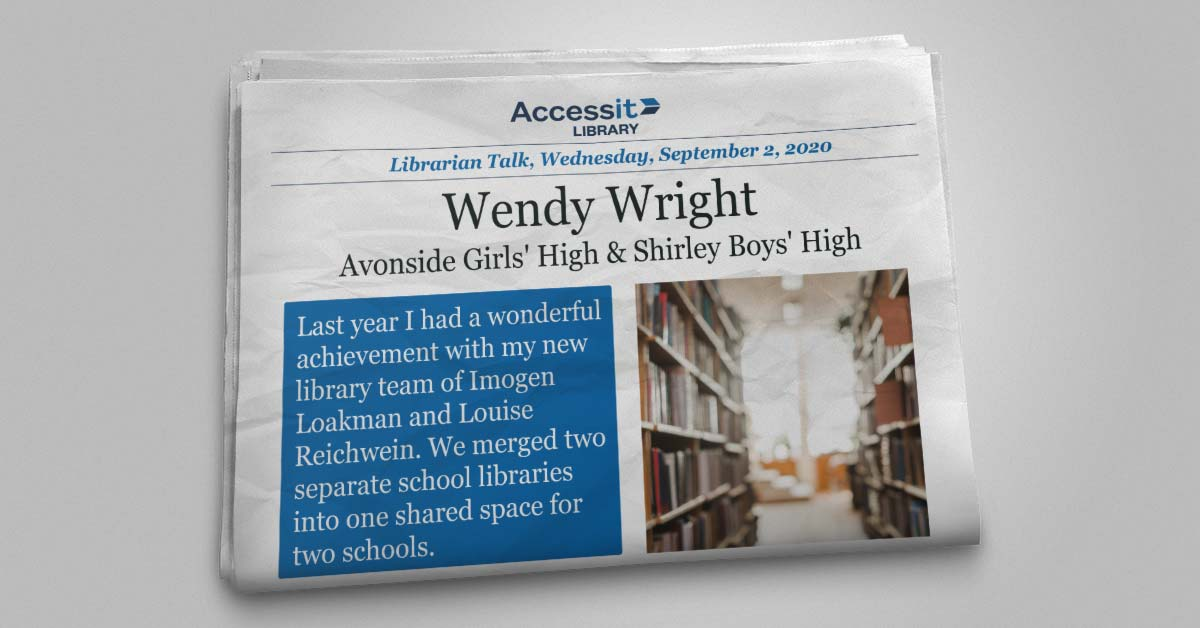Wendy Wright school library software user story